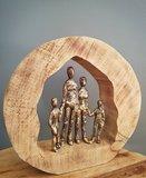 Mangohout sculptuur 'Familie' _