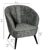 PTMD Hanna luxury mustard velvet chair black wood_