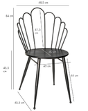 PTMD Shelby seat shell shaped black Iron chair_