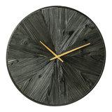 PTMD Rolf Black klok van hout met metalen rand L_