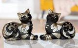 Liggende katten zwart goud_