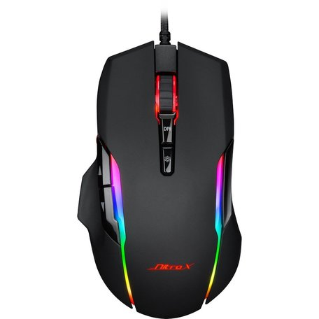 Inter-Tech Gaming-muis GT-200 RGB, zwart