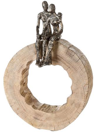 Mangohout sculptuur 'Samen zijn'