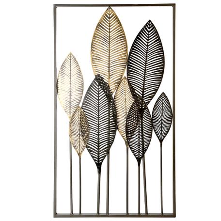 Wanddecoratie metaal 'bladeren'