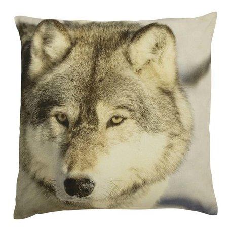 Kussen wolf
