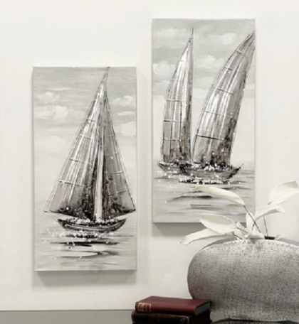 olieverfschilderij regatta canvas 60cm hoog