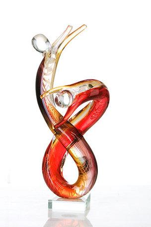 sculptuur acrobatisch glas