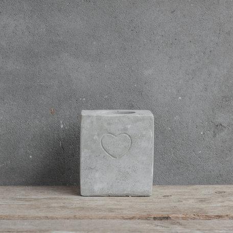waxinelichthouder vierkant beton