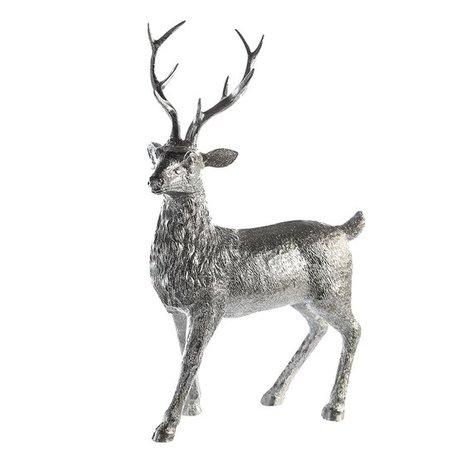 decoratie hert zilver met glitters
