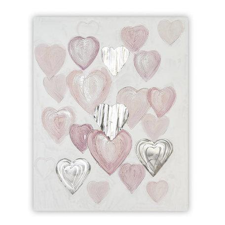 Olieverfschilderij hart canvas 1