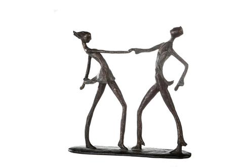 Sculptuur-dansend paar