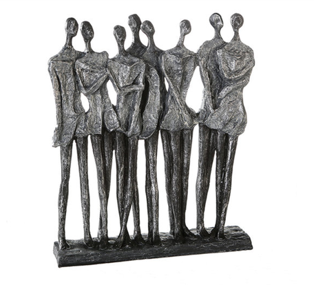 Sculptuur  vrouwen zilver