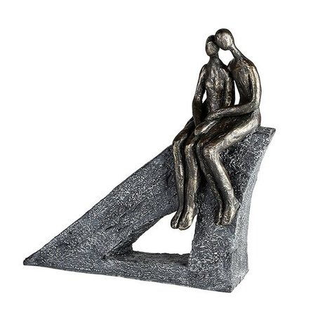 Sculptuur koppel zittend