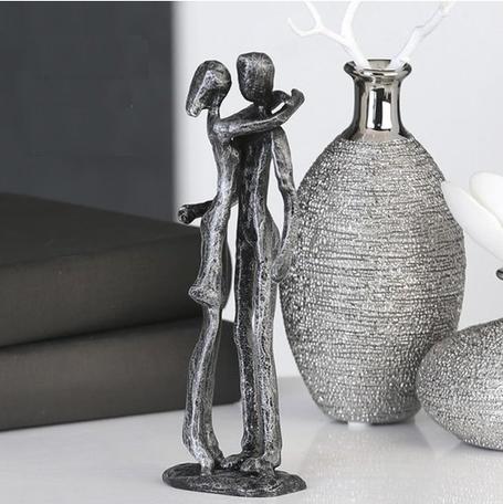 sculptuur paar zilver