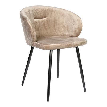 PTMD Move velvet sand stoel metalen poten