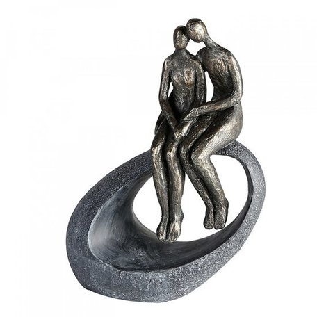 Sculptuur samen zittend
