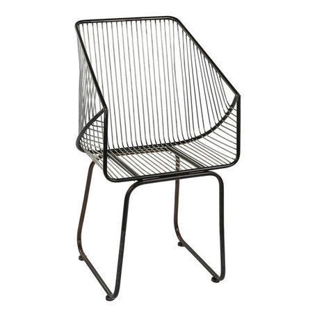 PTMD Vance black Iron chair