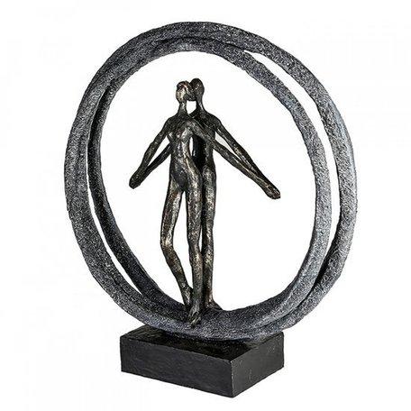 sculptuur koppel in de ring