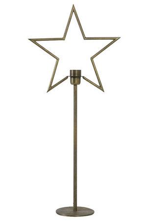 Tafellamp 35,5x14x81 cm ACRUX antiek brons