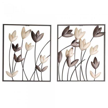 wanddecoratie tulpen 2 stuks