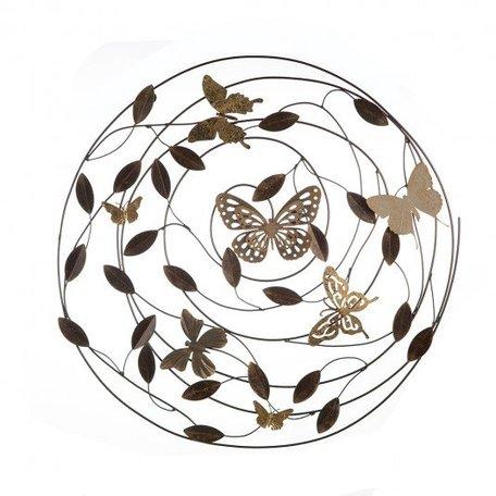 Wandobject vlinders  metaal