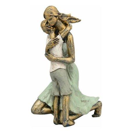 Sculptuur moeder en zoon