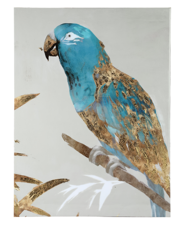 PTMD Keegan White Blue shiny painting parrot