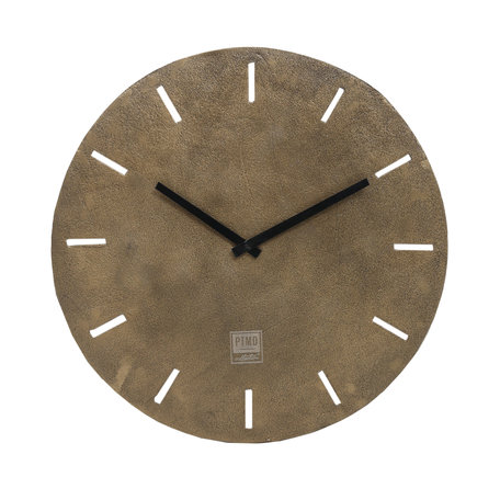 PTMD Lexis Antique brass aluminium clock round s