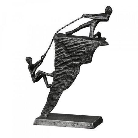 Sculptuur omhoog helpen