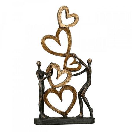Sculptuur 'Hart op Hart'