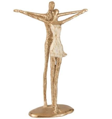 Sculptuur Koppel Poly Goud
