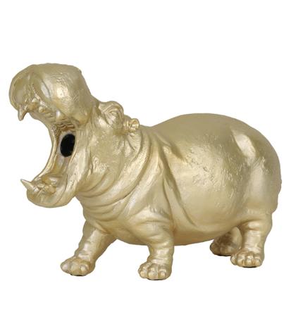 Tafellamp 36x14x24 cm HIPPO mat goud