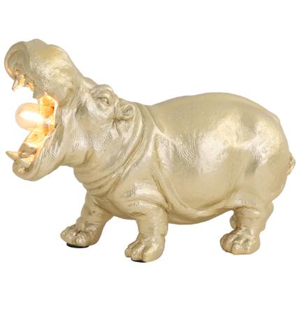 Tafellamp E14 27x11x17,5 cm HIPPO mat goud