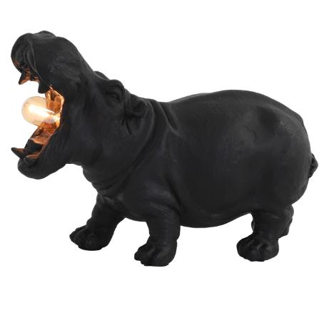 Tafellamp E14 27x11x17,5 cm HIPPO mat zwart