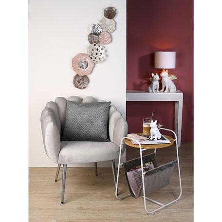 Wanddecoratie metaal roze 'abstract'