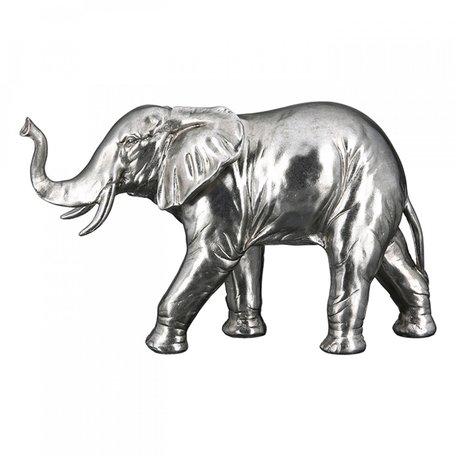 Olifant zilver 39cm