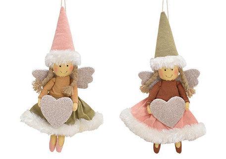 Hanger engel roze/groen