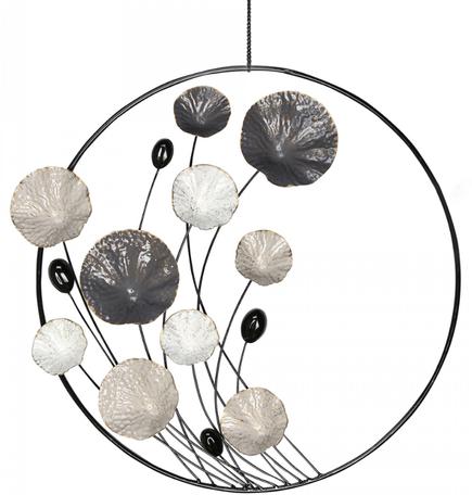 Wanddecoratie metaal rond
