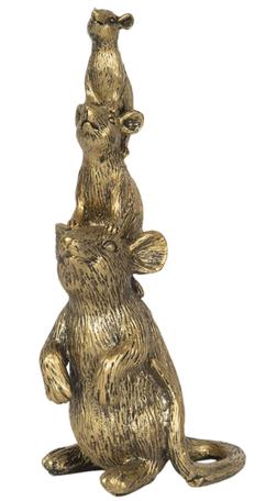 Decoratie muizen goudkleurig
