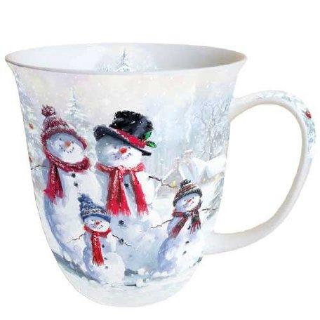 Beker porselein 0.4 L Snowman With Hat Sneeuwpop