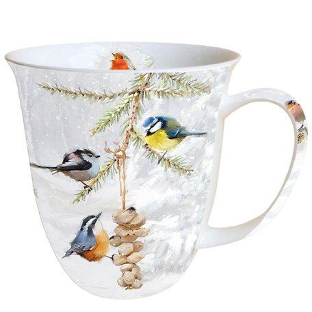Beker porselein 0.4 L All Together Vogeltjes