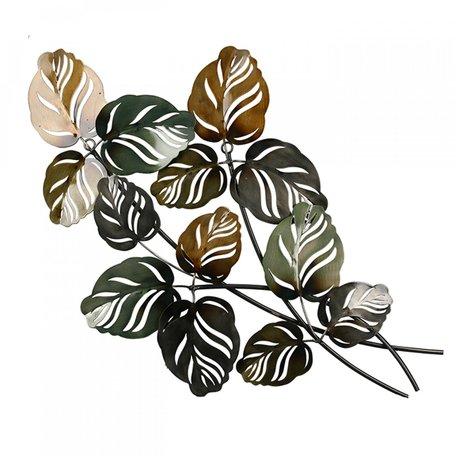 Wanddecoratie blad op tak
