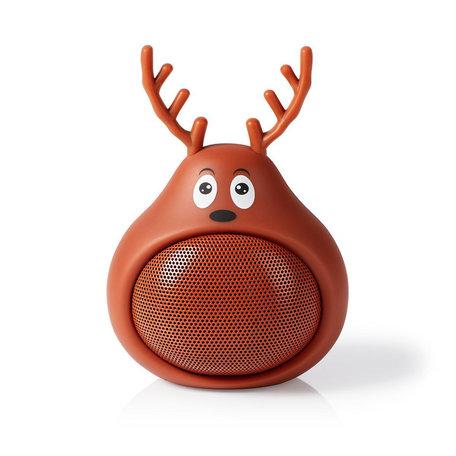 Animaticks Bluetooth Speaker | 3 Uur Speeltijd | Handsfree Bellen | Rudy Reindeer