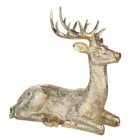 Groot decoratie beeld Hert goudkleurig 57cm