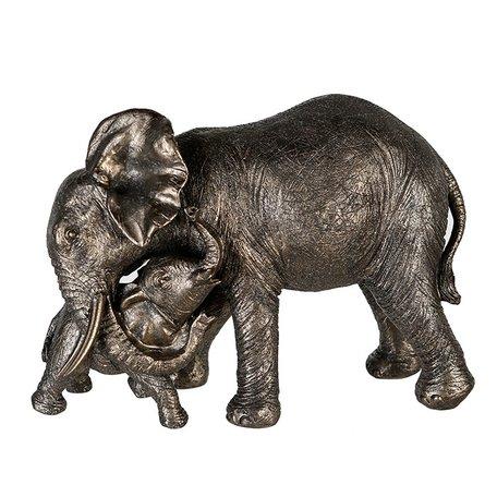 Sculptuur Olifant met jong