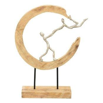 Mangohout sculptuur vasthouden