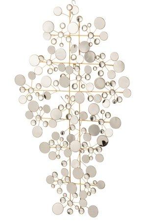 Wanddecoratie Spiegels Rond Metaal Goud