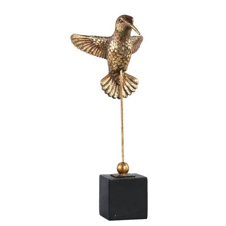 Paradise Goud poly vogel beeld op voetstuk
