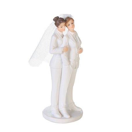 Beeldje bruidspaar vrouwelijk