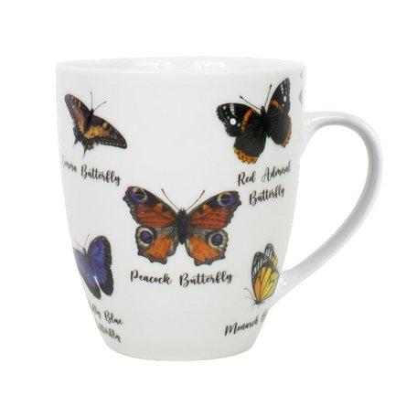 Beker porselein Vlinders